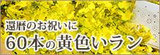 還暦のお祝い60本の黄色い